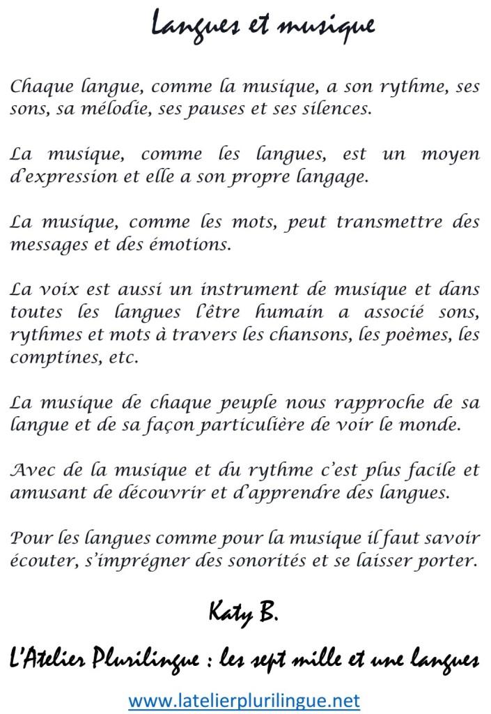 Langues et musique