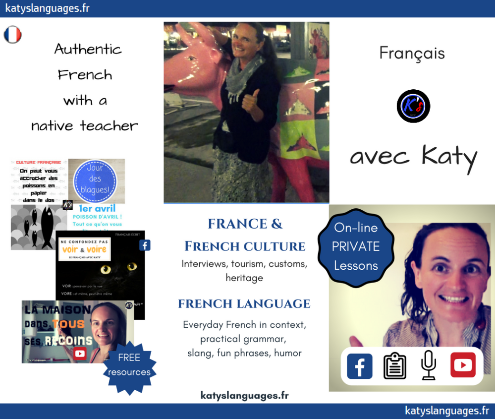 Brochure learn French with Katy